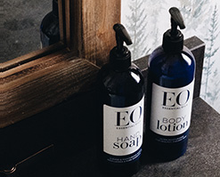 EO bath and body products used exclusively at The Kern River House