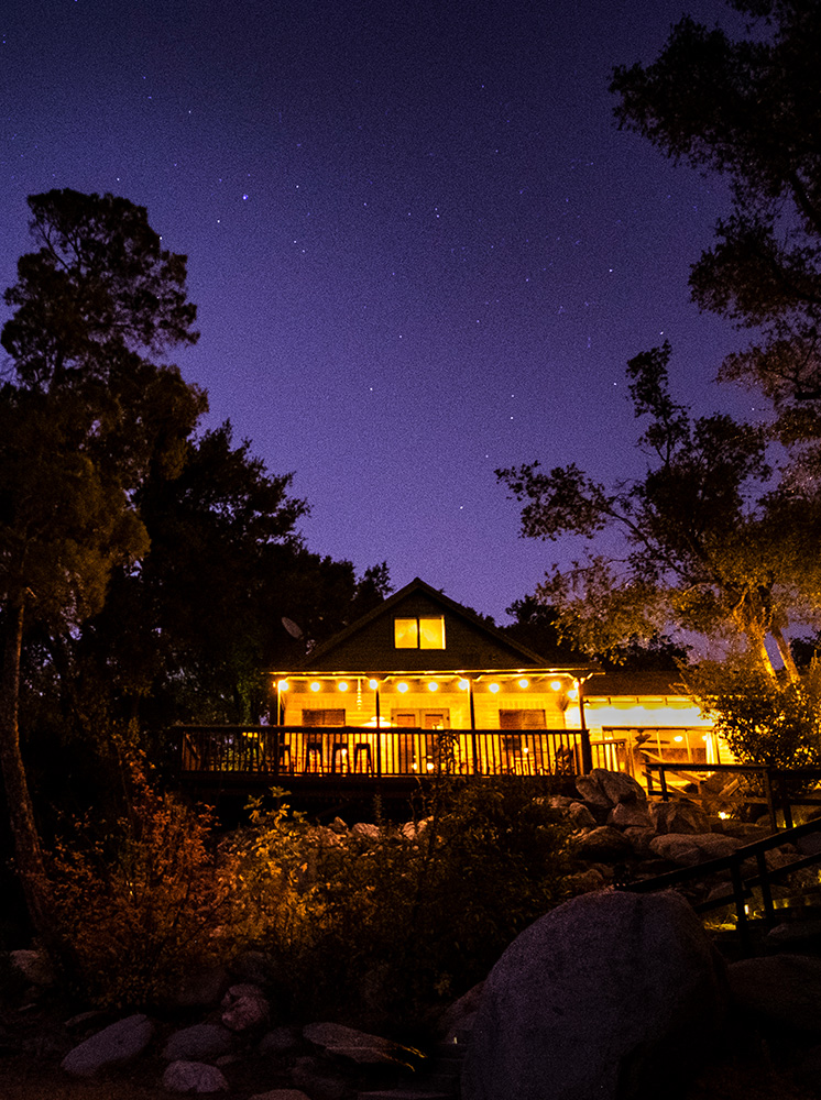Starry night amidst the Sierra Nevada Mountains, Kernville, CA