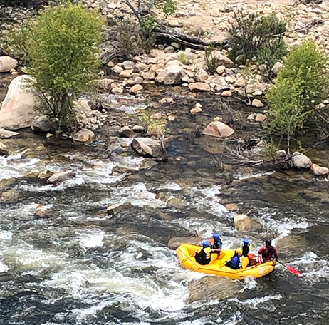 World class whitewater rafting on the Kern River near the Kern River House